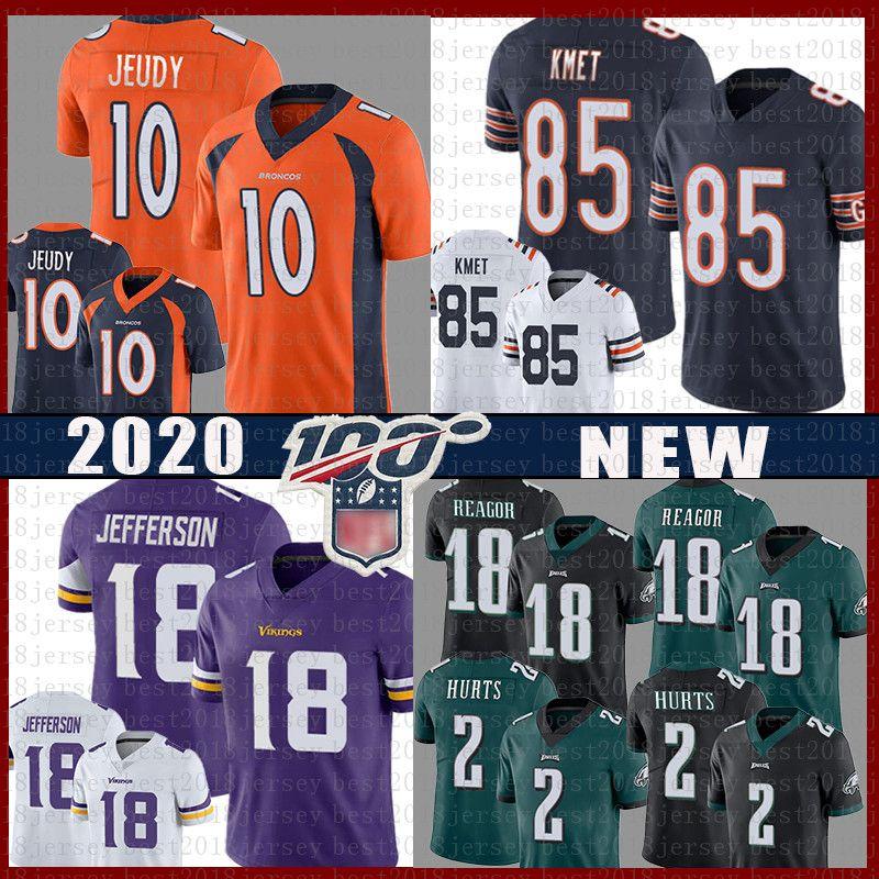 10 Denver Jerry Jeudy Broncos Chicago 85 Cole Kmet Bear Jersey Philadelphia 2 Jalen Reagor Hurts Eagles Minnesota Justin Jefferson Vikings