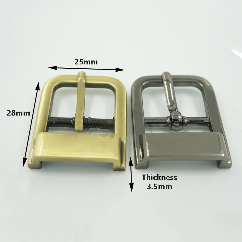 25 mm Matériel d'ajustement Sac Bracelet Boucles de ceinture Décor Ardillon bricolage Artisanat Sac en cuir Accessoires Pièces