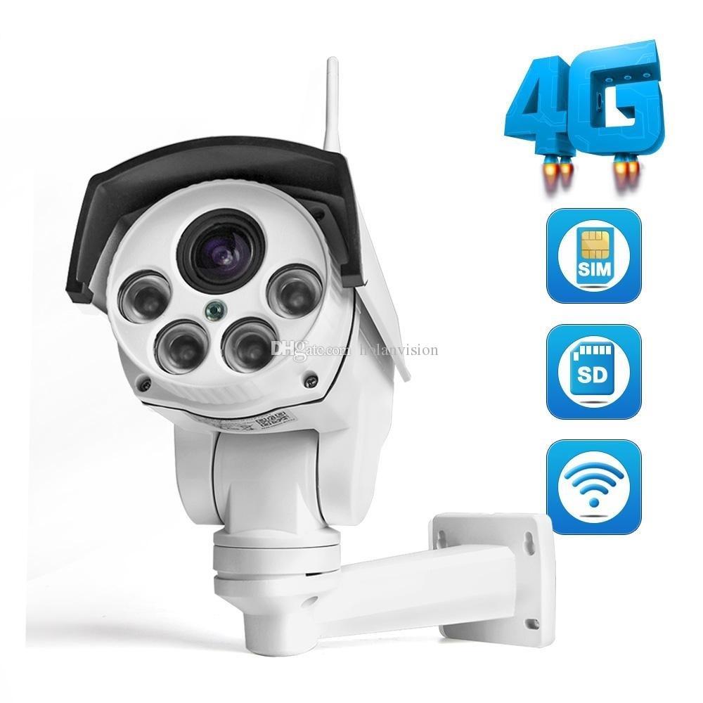 1080P IP-камера 4G SIM-карта WiFi HD Bullet PTZ Открытый беспроводной IR 50M 5x Zoom Auto Focus Lens CCTV