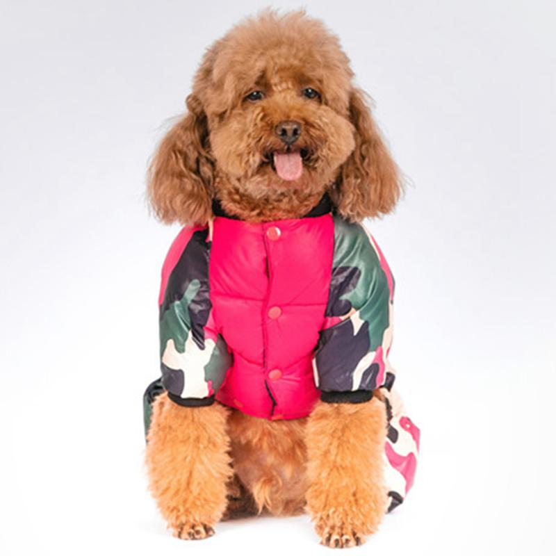 Windproof Dog down jacket Warm Winter Dog Clothes Dogs Coat Pets Clothing Cotton Outfits For French Bulldog Chihuahua Puppy Suit