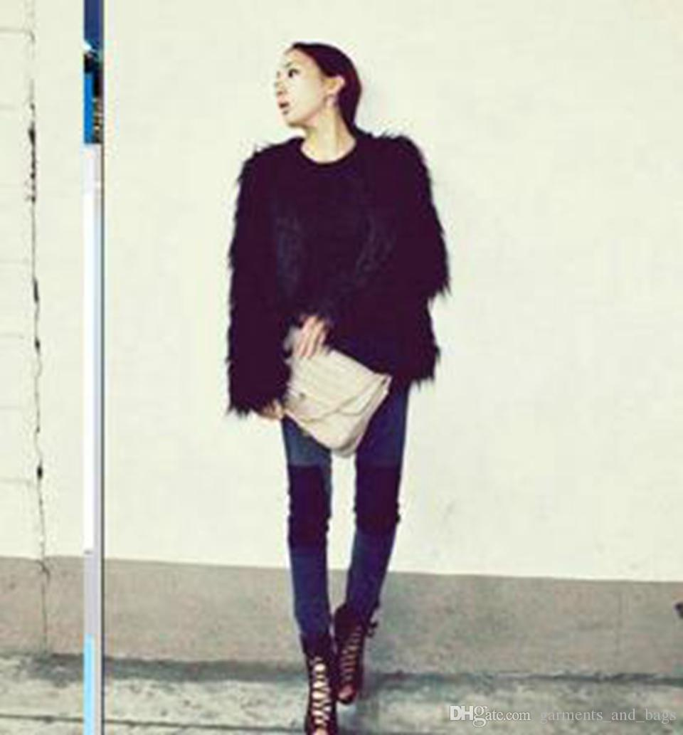 Frau chun qiu han Ausgabe Europa und amerikanischen neuen Fonds Mode Gezeiten hochwertige Waren individuellen Charakter kurze Geld Pelz Mantel / S-2XL