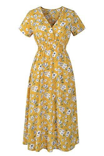 Повседневные платья Чиканарные женские цветочные печать шифон MIDI