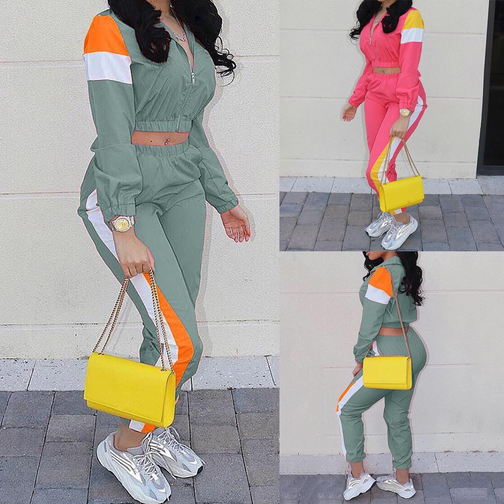 pull de survêtement à manches longues pour femmes de la mode des femmes + pantalon long survêtement