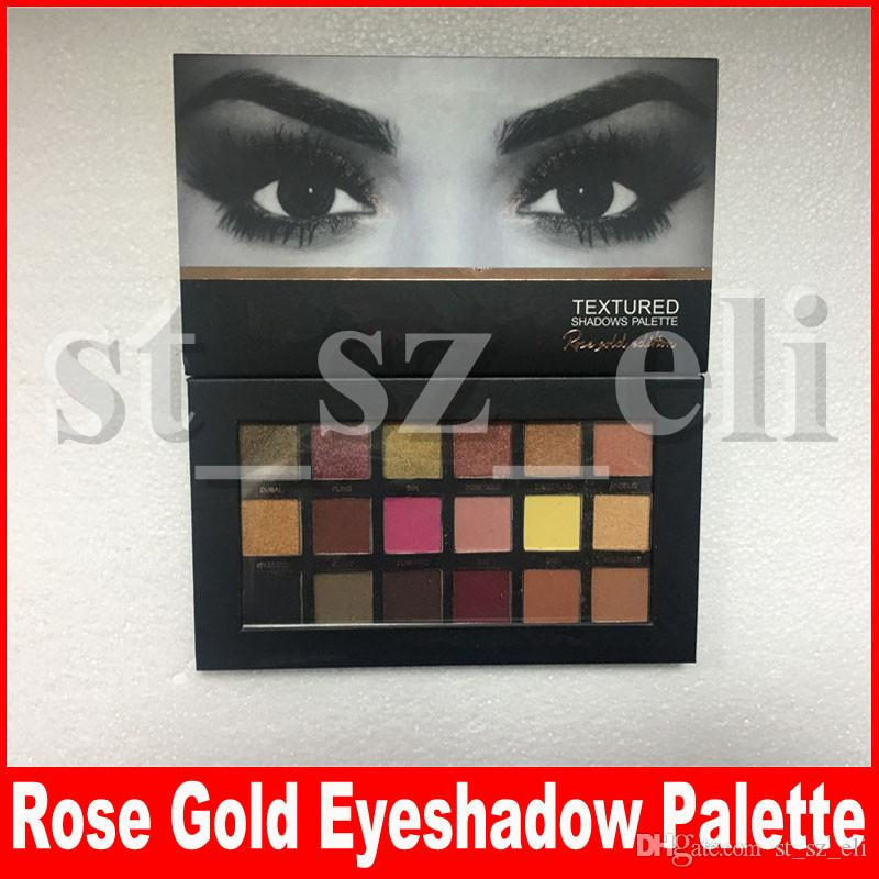 18 Colors Eyeshadow Palette Rose Gold Textured Palette Makeup Eye shadow Beauty Palette Matte Shimmer Brand Cosmetics
