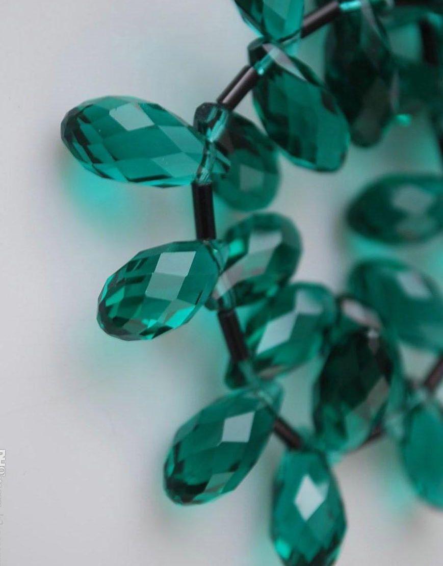 100 pçs / lote ESMERALDA VERDE Facetada Lágrima CLARO Cristal De Vidro Contas Soltas 6 * 12mm DIY Jóias Contas Soltas Hot vender Itens