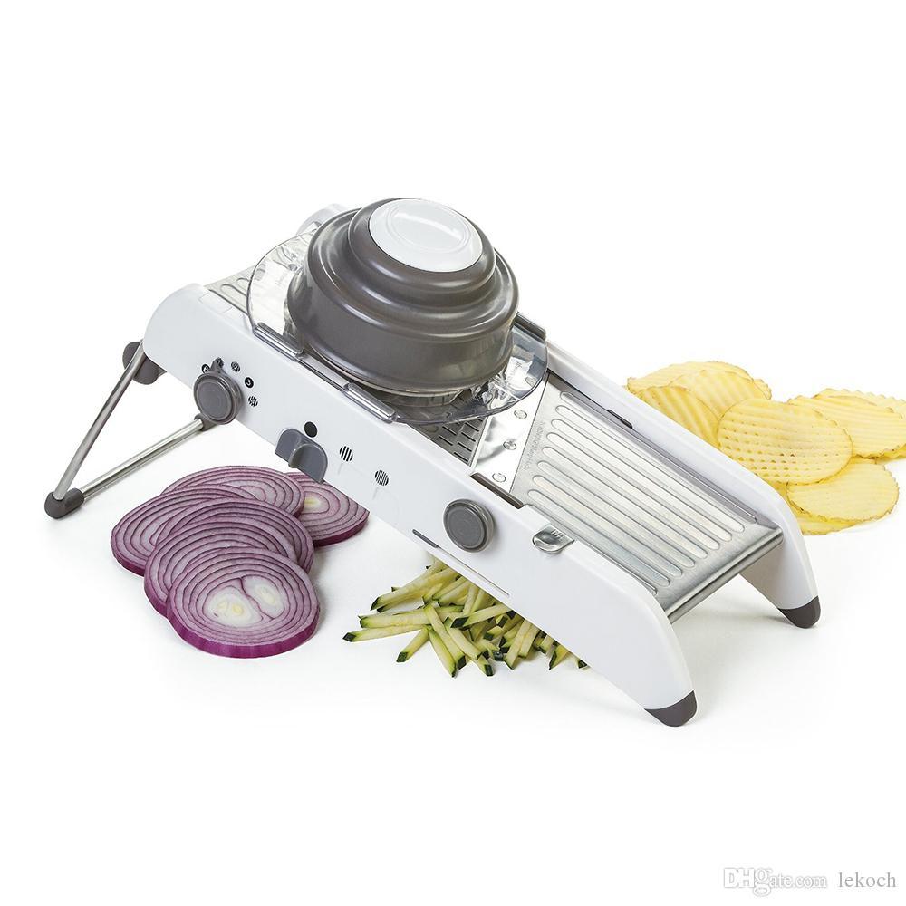 LEKOCH Регулируемый Мандолина Slicer С Ножами Из Нержавеющей Стали Ручной Овощерезка Пищевой Slicer Кухонные Принадлежности