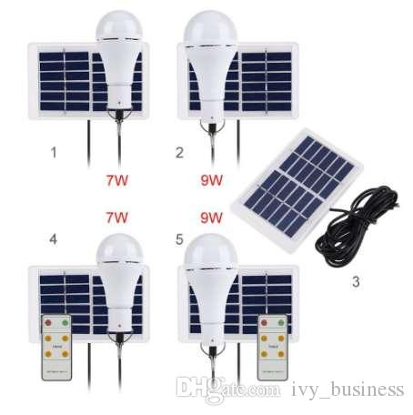 Luz solar portátil USB recargable Energía solar alimentada Lámpara de la lámpara 5 modos 20 COB LED para la lámpara solar que acampa al aire libre