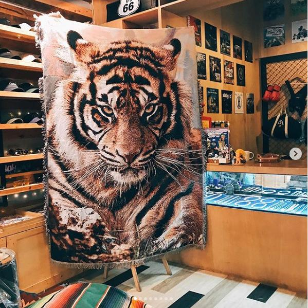 forma Tiger paese americano Nordic arazzi stampa animale tappeto tempo libero divano coperta Knit tiro coperta decorativo domestico