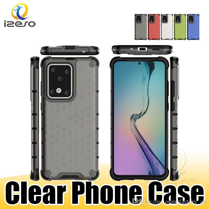 Hybrid Armor Mobile Phone Cases for Samsung Galaxy Note 20 S21 Plus A71 A31 A11US M11 Transparent TPU Shockproof Back Cover izeso