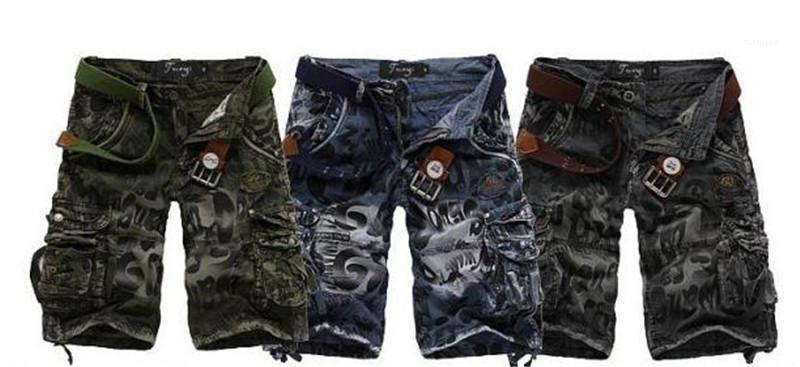 Poches Fashion Designer Été Homme Vêtements Pantalons Camouflage Leopard Hommes Shorts avec