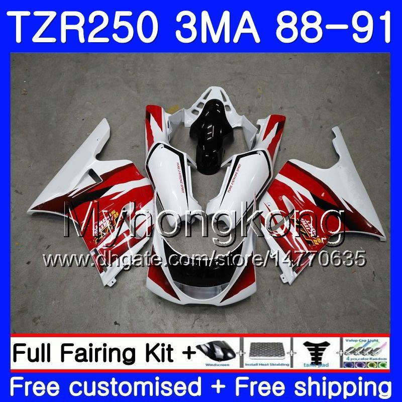 바디 용 YAMAHA TZR250RR RS RR YPVS TZR250 88 89 90 91 244HM.11 TZR-250 TZR250 3MA TZR 250 공장 레드 핫 1988 1989 1990 1991 페어링 키트