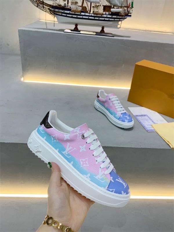 Louis Vuitton LV shoes obliquo High Top Sneakers con logo Homme X KAWS da Kim Jones donne degli uomini dello stilista Casual Shoes Skateboard Shoes