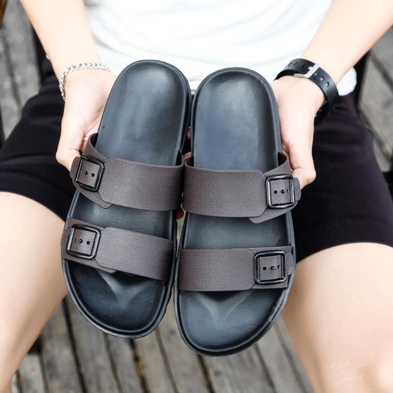 Zapatos de moda de los hombres del ocio del verano zapatillas flip-flops zapatillas retro casuales calzado cómodo suave de la sandalia de los hombres de las sandalias A3063