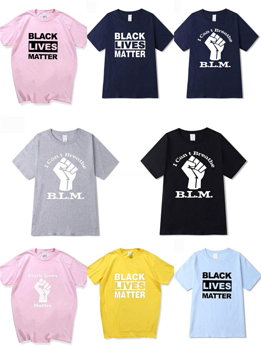 Eu não posso respirar! Simples Letter Printing Hipster homens e mulheres casal soltas de manga curta T-shirt dos homens do desenhista Fatos # 159