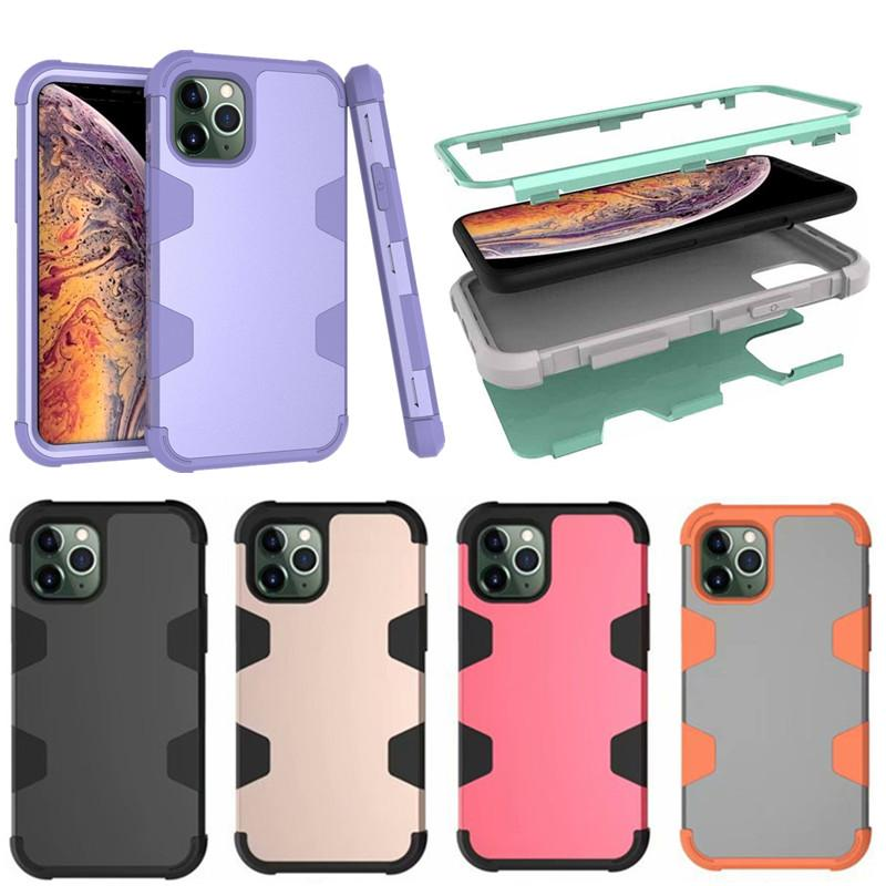 For Iphone 11 Armor Case For Apple 6 7 8 Plus XS Max XR X 11 Pro Max TPU Silicone Anti-fall Shockproof Cover