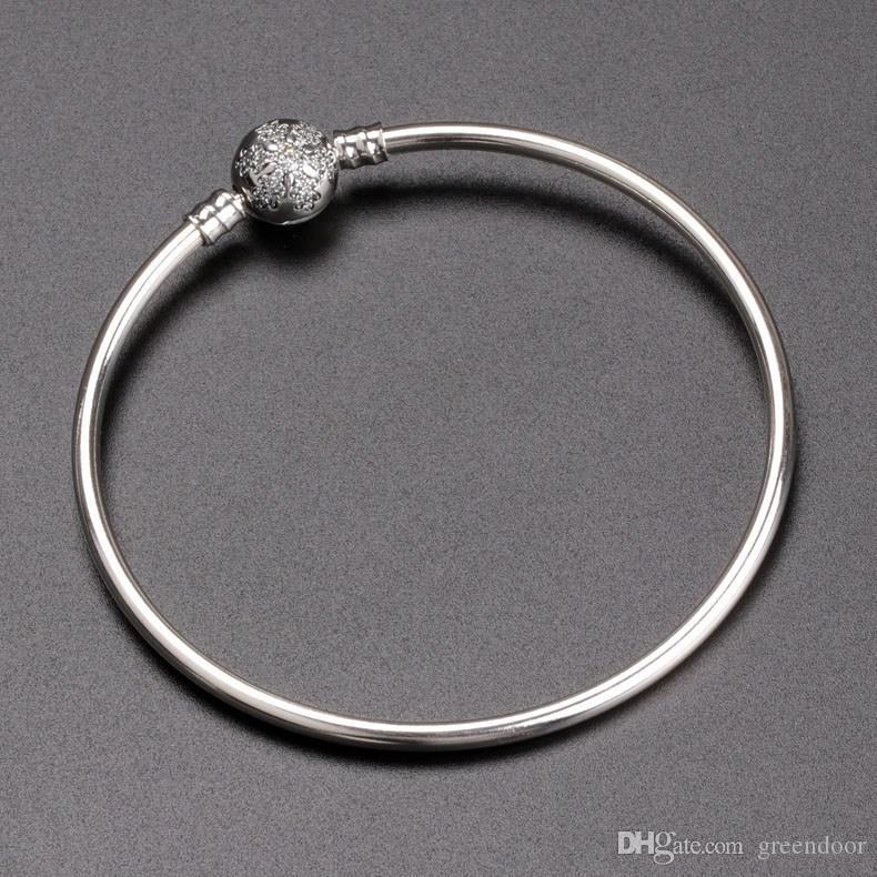جديد فاخر مصمم مجوهرات سوار 925 فضة لسوار باندورا البهجة كرات CZ الماس الأزياء النسائية