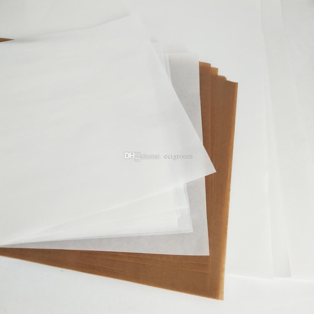 Folha Brown Branco Bakeware Mat Oil Paper Non-Stick Baking Pastry gorduras papel seco Herb Wax Ferramenta Dab
