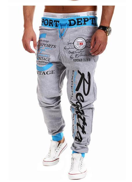 2020 новые случайные брюки мужские хип-хоп хип-хоп мужские шнурком упругие талии буквы, напечатанные свободные спортивные брюки