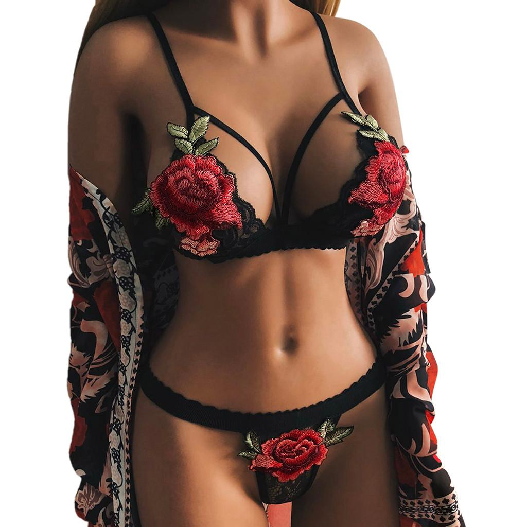 New Comfortable Lady Womens Lace Bandage Bra set Lingerie Corset Push Up Top hot