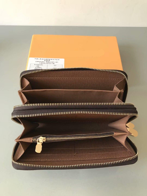 مزدوجة محفظة رشيق العمودية الرجال والنساء أزياء طويل مصمم محافظ حامل أصحاب الجلود الأعمال بطاقة محفظة