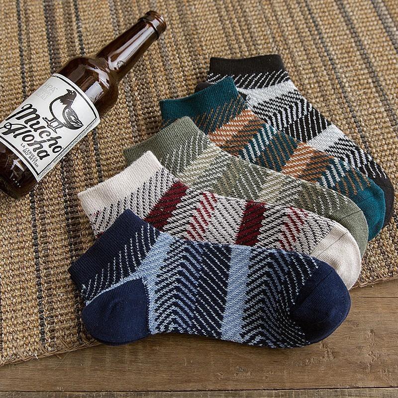 Erkek çorapları Erkekler pamuk Çorap Moda Havalandırma Rahat Kısa komik Adam 2 adet = 1 pairs