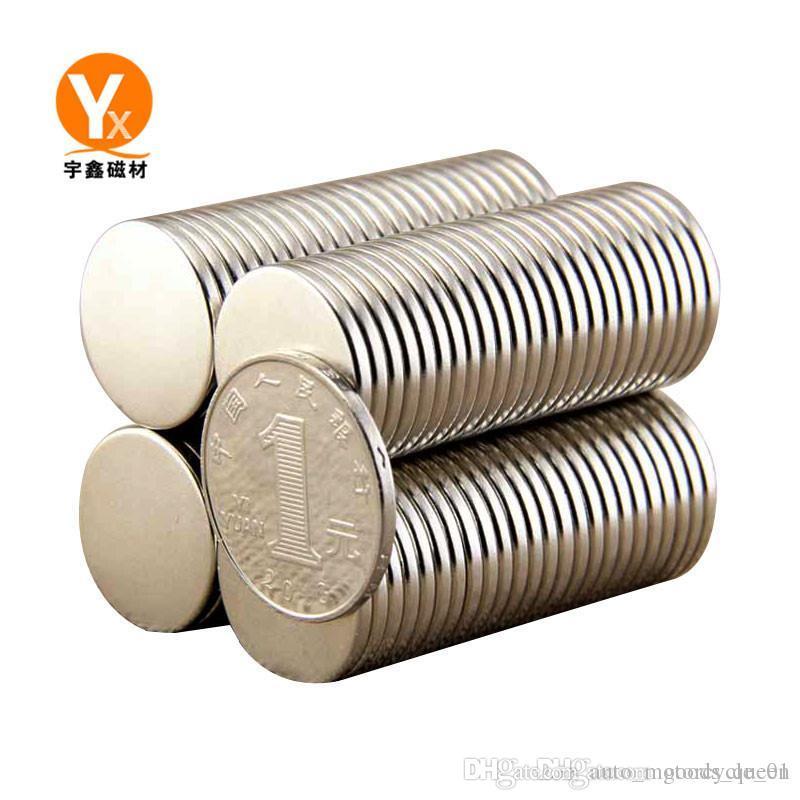 뜨거운 판매 슈퍼 강력한 라운드 디스크 실린더 (12 개) X 1.5mm의 자석 희토류 네오디뮴 무료 배송 1000PCS 004