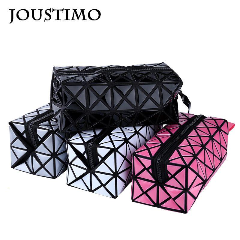 Frizione delle donne borse in pelle di modo della borsa geometrica plaid Piegato Flap Borse Casual lunga del raccoglitore di trucco sacchetti di sera per le signore