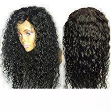 360 Кружева Фронтальных парики группы бесклеевого фронт шнурок человеческих волосы Парики для чернокожих женщин курчавого бразильского виргинского волоса 360 парика шнурка плотности 180%
