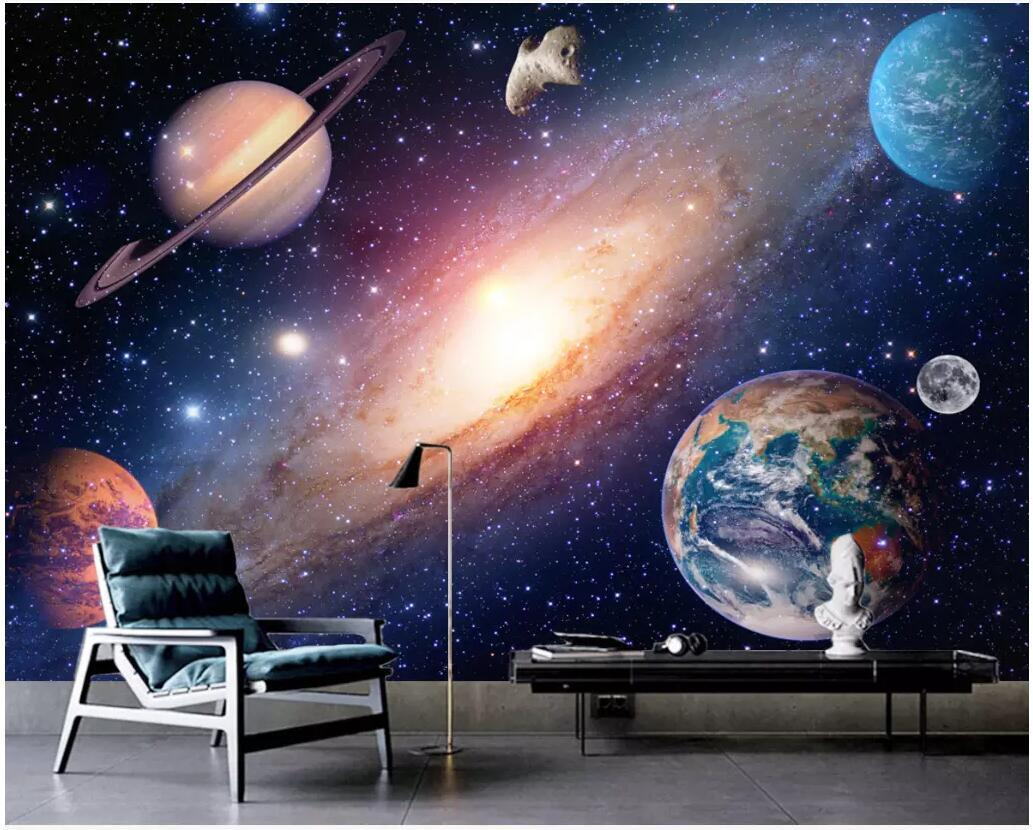 custom photo 3d wallpaper Fantasy HD universe starry sky tv background home decor living room 3d wall murals wallpaper for walls 3 d