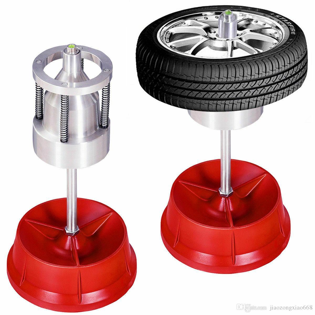 Pro Portable Hubs Wheel Balancer W// Bubble Level Heavy Duty Rim Tire Cars Truck
