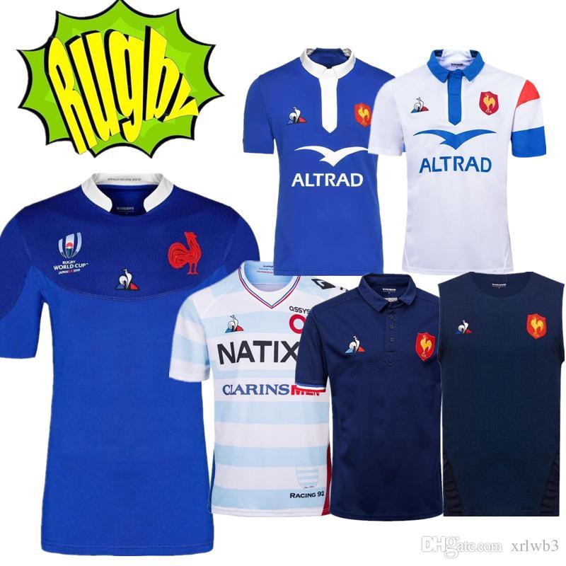 새로운 스타일 월드컵 2018 2019 2020 프랑스 슈퍼 럭비 유니폼 18 19 20 Frances Shirts 럭비 Maillot 드 발 프랑스 럭비 셔츠
