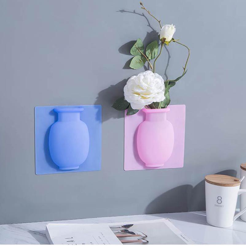 Buzdolabı Silikon Şekli Vazo Su Yeni Emiş Kupası Duvar Yumuşak Vazo Banyo Etiketler Asma doldurulabilir Yapıştır