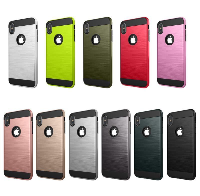Funda de TPU Godu War Brushed para iPhone X XR XS Max 6 7 8 Plus y Samsung Galaxy Note 9 8 S10 S9 S8 S8 Plus S7 S6 Edge Brushed