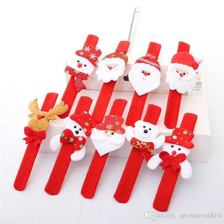 Natale decorazioni accarezzando vigilanza del braccialetto del cerchio di natale per bambini regali di Babbo Natale il pupazzo di neve cervo partito di nuovo anno decorazione giocattolo polso