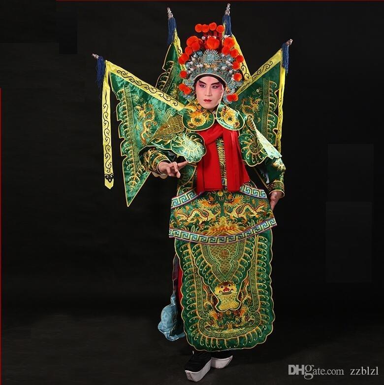 Opera di Pechino Jingju fase cosplay volto mutevole dramma in costume di prestazione della fase costume antico militare generale Wu Sheng maschile