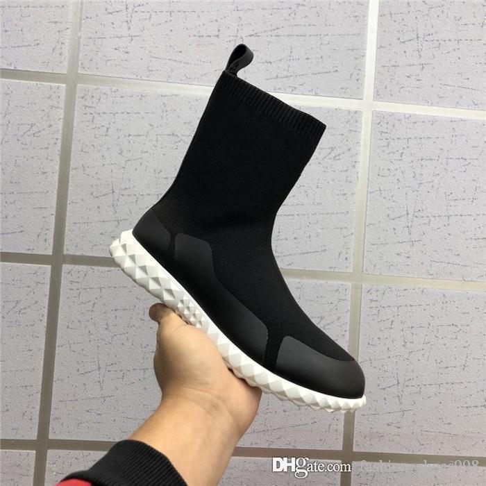 Sneaker da donna calzino da donna Speed Trainer, sneaker alla caviglia con suola morbida bianca nero rosa per ladys con scatola taglia 36-40
