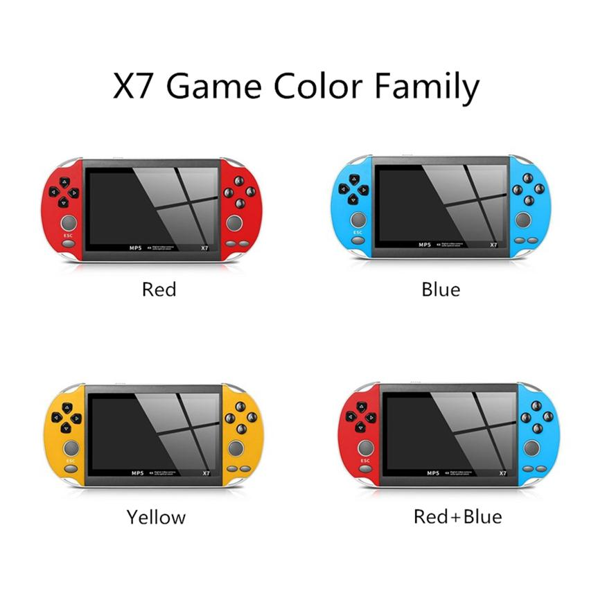 X7 Game Console 4.3inch Video 8GB 32Bits Double Rocker Joystick Arcade Games Handheld Game Player Portable Retro Console for Kids Gift