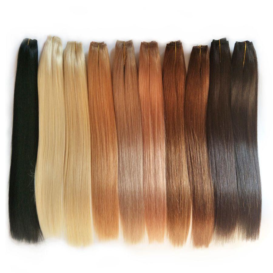 Alimagic Noir Bronw Chocolat Blonde Cheveux Humains Head Hair Coiffure Vierge Européenne Russe Brésilien Hair Weave Bundles 18 20 22 24 266in