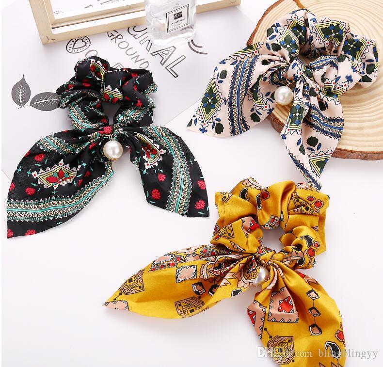 France elegante la bande de cheveux écharpe de satin femmes cheveux arc serre-tête corde nouée modèle multicouleur classique Livraison gratuite