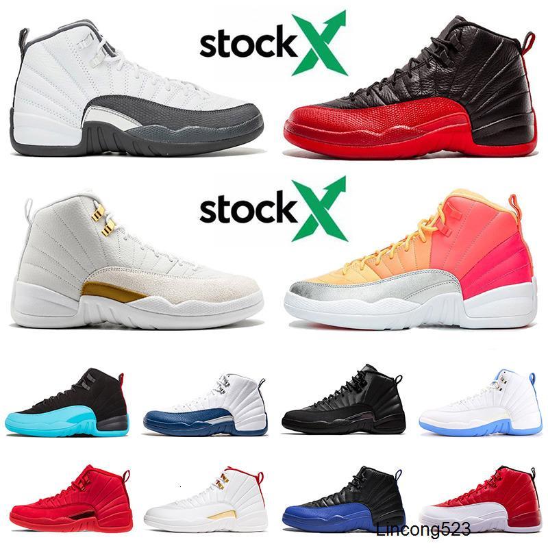 12 12s Basketball Hommes Chaussures New Jumpman XII Hot punch inverse Taxi Flu Jeu 47 entraîneurs des espadrilles TAILLE