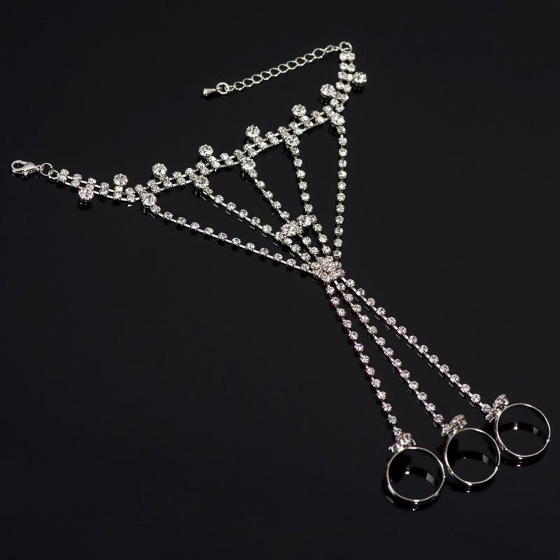 Strass Neue Damenmode-Kette Charme Armbandarmbandart Qualitätsmädchen Geschenk Perlenarmband-Schmucksachen # B104