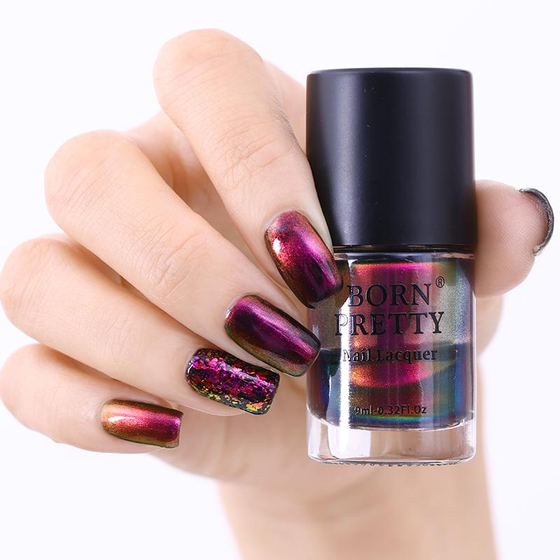 9ml BORN PRETTY Chameleon Nail Polish Lyphard Melody Violet Galaxy Sequins Manicure Lacquer Varnish Nail Art Polish Vernis