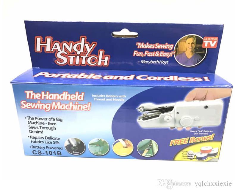De mano de la máquina de coser portátil, mini máquina de coser eléctrica máquina de coser manual de múltiples funciones