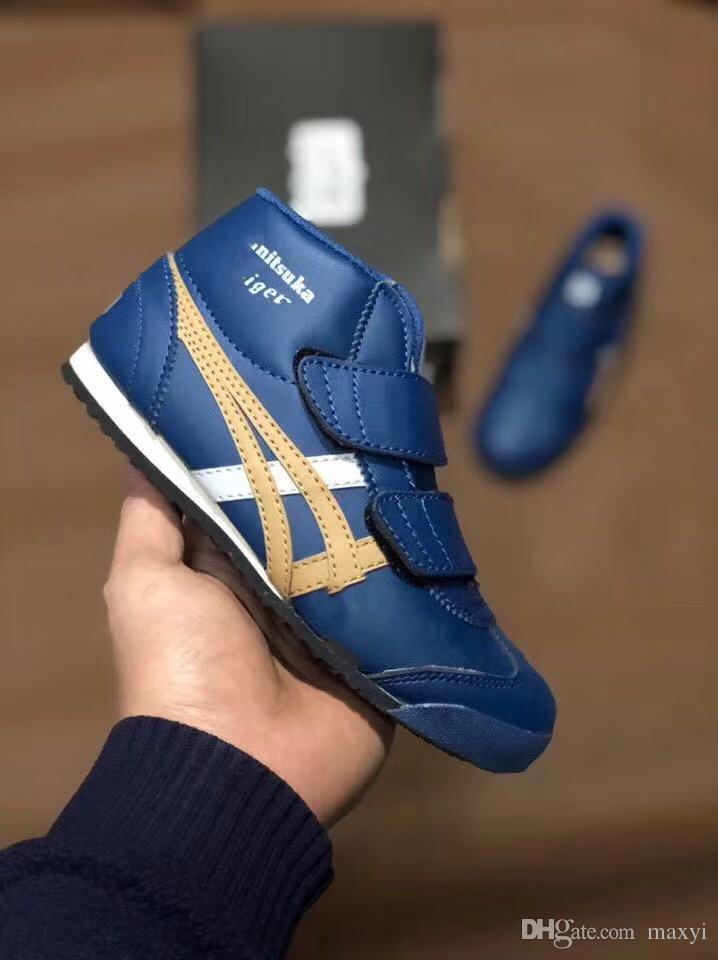 new style 49172 ea426 2019 2019 Top Box Asicses OnitsukaTiger Children'S Shoes Running Shoes Boys  Girls Shoes Kids Original Designer Sneakers Sports Size 27 35 From Maxyi,  ...