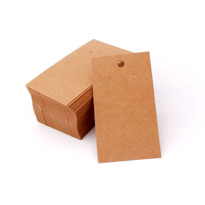 5 ** 9cm 100pcs التي / الكثير الأذن مربط / تعلق القرط بطاقات كرافت / أبيض / أسود ورقة كرتون الجملة يمكن شعار مخصص إضافي التكلفة