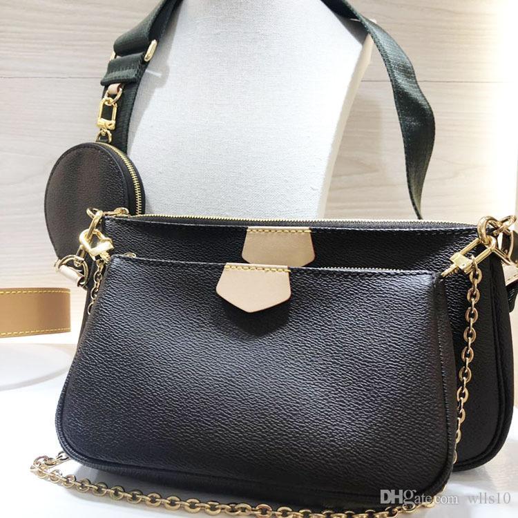 LB72 حقائب اليد من النساء حاملات حقائب حقيبة CROSSBODY أكياس ثلاث قطع الجمع بين التسوق مجانا M44823 متعددة حقيبة جيب مربع الأصلي