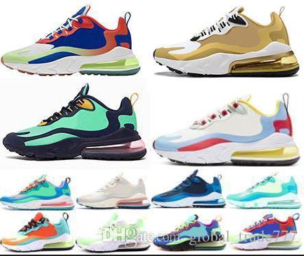 2020 моды обувь 270 Реагировать светло-бежевый для мужчин женщины управляют обувь 270S Phantom Bauhaus ОПТИЧЕСКОГО Hyper Джейд тренеры спортивных мужчин черные кроссовки