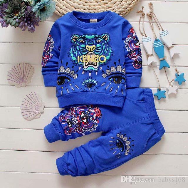 NUOVI Neonati 1-4years Ragazze Suit Brand Tute 2 Abbigliamento per bambini Set Hot Sell Fashion Primavera Autunno per bambini Abiti manica lunga maglione