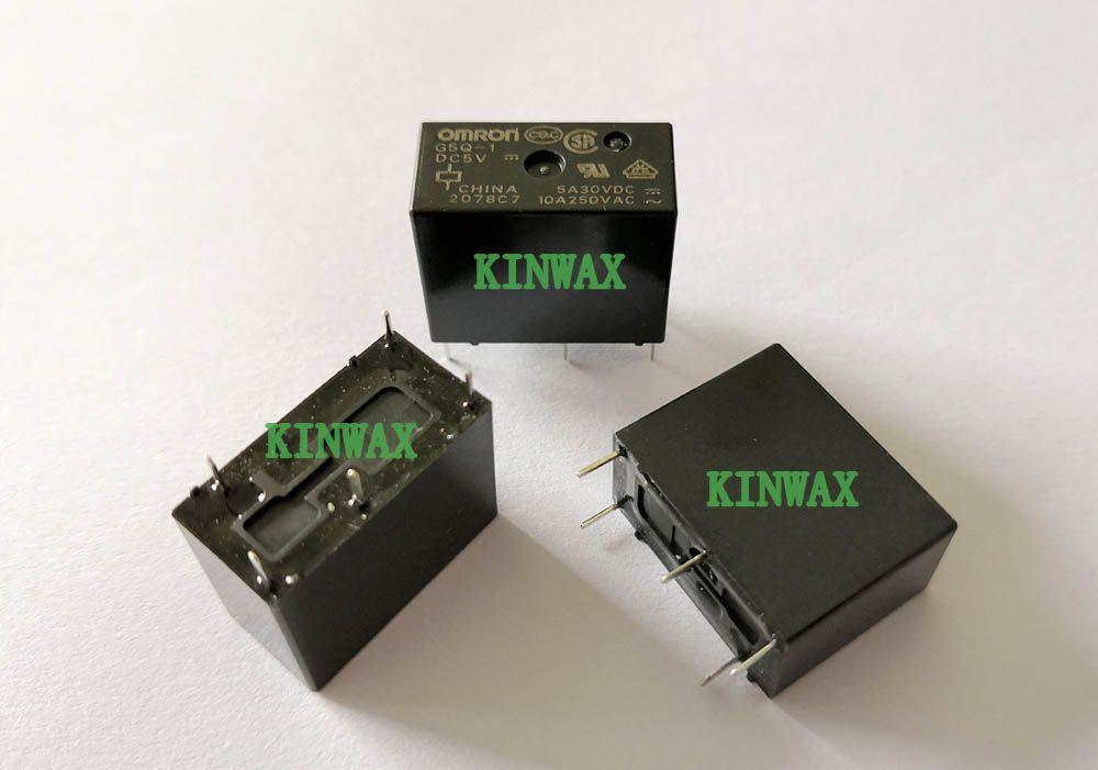 (5pieces / lot) Original New G5Q-1-DC5V G5Q-1-5VDC G5Q-1-DC12V G5Q-1-12VDC G5Q-1-DC24V G5Q-1-24VDC G5Q-1-DC48V G5Q-1-48VDC 10A Puissance 5PIN Relais