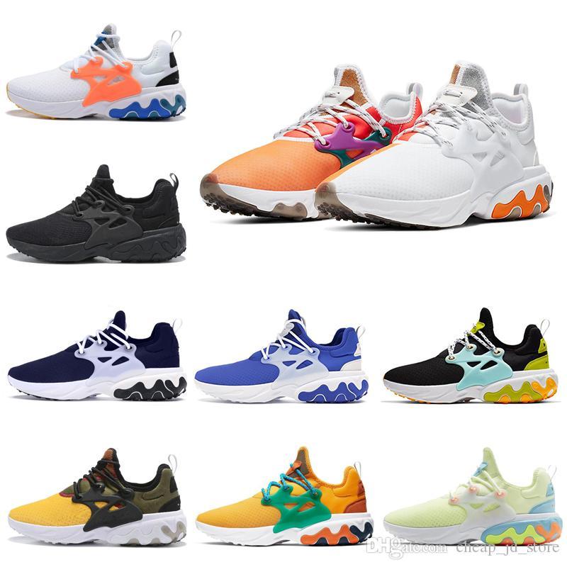 2020 Presto Erkekler Kadınlar Koşu Ayakkabıları React Psychedelic Lava Rabid Panda Breezy Perşembe Acımasız Bal Bred Erkek Eğitmenler Spor Sneakers 36-45
